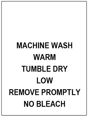 100 PRINTED CLOTHING LABELS, Care Labels (Machine Wash Warm…)