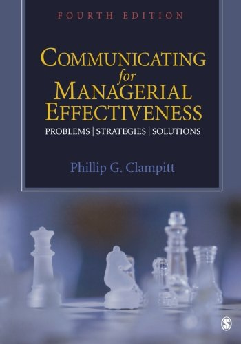Communicating for Managerial Effectiveness: Problems |...