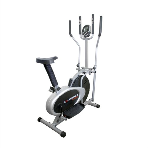 Confidence PRO 2 in 1 Fitness Elliptical Cross Trainer & Exercise Bike