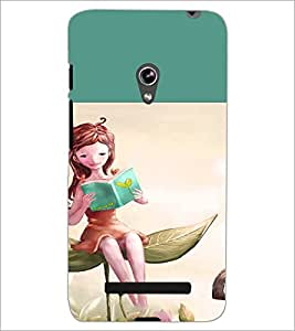 PrintDhaba Reading Girl D-2657 Back Case Cover for ASUS ZENFONE 5 A501CG (Multi-Coloured)