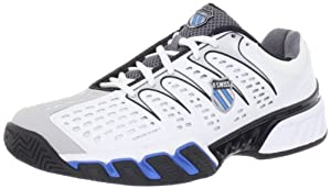 K-Swiss Men's Bigshot II Tennis Shoe,White/GllGrey/Blk/Brillant Blue,11 M US