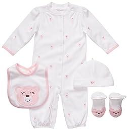 Carter\'s 4 Piece Layette Set - Pink Bear-Pink-9 Months