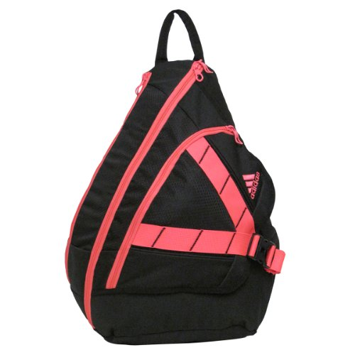 adidas Rydell Sling Backpack, Black/Red Zest, 20 x 14 x 8-Inch
