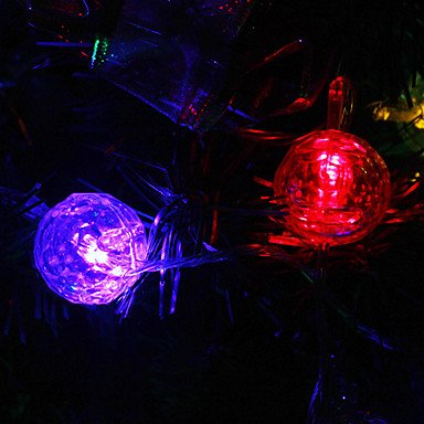 Ggb- 9.5M 20-Led Snowball Shaped Colorful Light String Fairy Lamp For Christmas (220V)