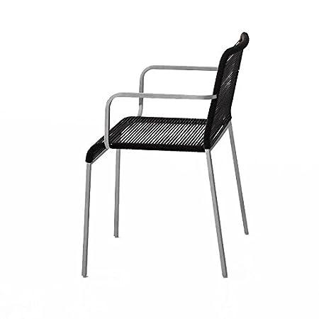 Aria sedia con braccioli impilabile