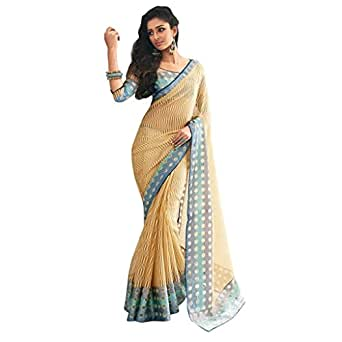 amazoncom jay sarees bollywood desgner party wear saree