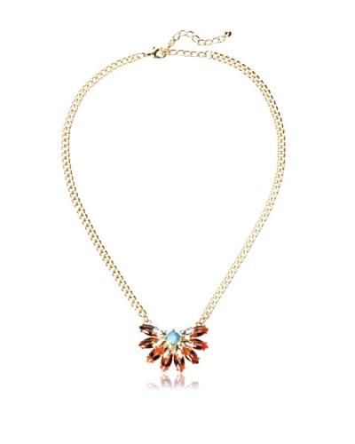 Sparkling Sage Half Sunburst Stone Necklace