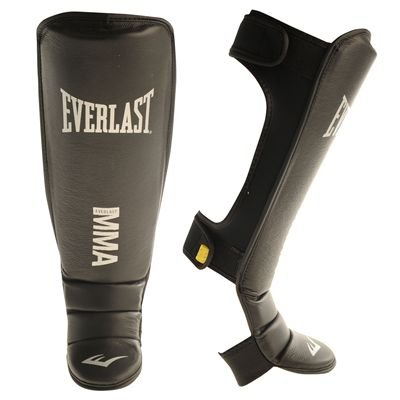 Everlast Evergel MMA Shin In Step Guards Black/Yellow S/M