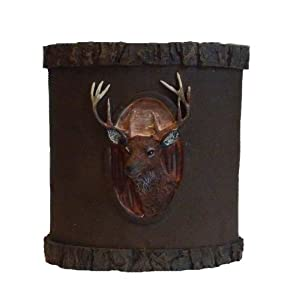 Tranquility deer buck nature toothbrush holder for Hunting bathroom accessories