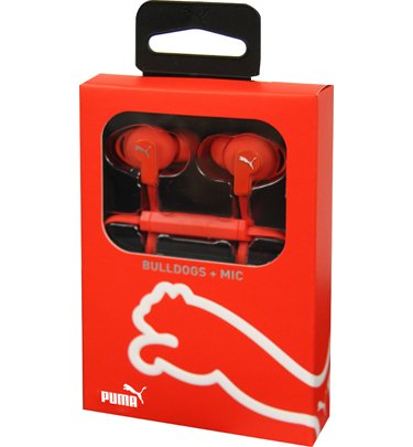 Puma Pmad6032Red Sport-Lite In-Ear Headphones- Red