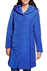 Per Una Side Ruched & Panelled Padded Thermal Coat with Stormwear [T62-0705K-S]