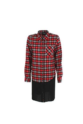 Camicia Donna Shiki L Nero/rosso 16isk34081 Autunno Inverno 2016/17
