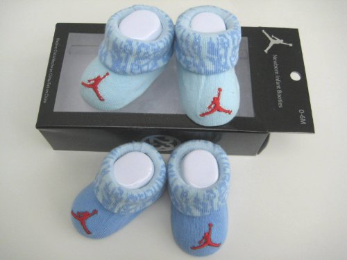 Nike Air Jordan Newborn Infant Baby Booties Socks w/Jumpman Logo Size 0-6 Months