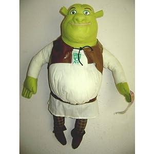 Shrek 2 Large Size Plush Doll 18 Inches - Talking Shrek Press His Chest And Talks Cute Item For Kids Huggable Soft Doll Only 1 Phrase from Shrek