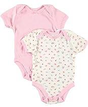 "Baby Dana ""Blossom Medley"" 2-Pack Bodysuits (Sizes 0M - 9M) - pink/white, 0 - 6 months"