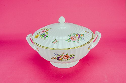 Vintage Retro TUREEN Bone China Unique Dinner Royal Worcester Attractive Large Floral White English Late 20th Century LS (German Punch Bowl Set compare prices)