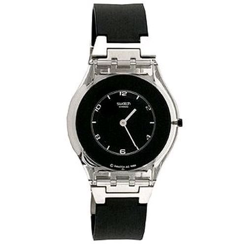 Swatch Unisex PURE BLACK Watch SFK116