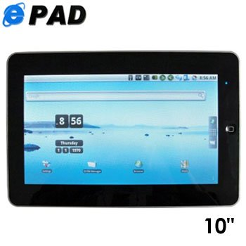 "ANDROID 2.2 10.2"" ePad apad WIFI AND HIGH QUALITY MOVIE VIEWING!"