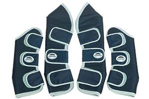 WeatherBeeta Travel Boots - Fleece Lined, Black/Silver, Horse [Misc.]