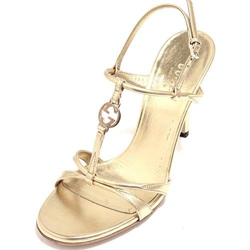 89783 sandalo oro GUCCI NAPPA SILK scarpa donna shoes women [36]