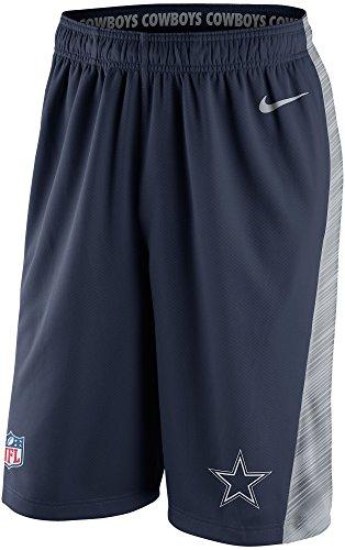 Nike Dallas Cowboys Men's NFL Speed Fly 2.0 Dri-FIT Training Shorts (Navy Blue, Small)