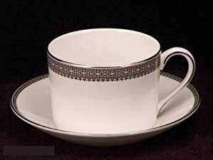 Vera Wang China Vera Lace Platinum Cups & Saucers
