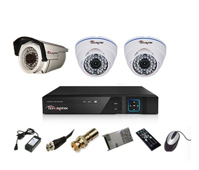 Tentronix-T-4ACH-3-DBA13-4-Channel-AHD-Dvr,-2(1.3MP-36IR)-Dome,-1(1.3MP-36IR)-Bullet-Cameras-(With-Accessories)