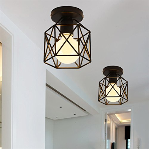 Marsbros Retro Vintage Industrial Mini Painting Metal Flush Mount Pendant Light Ceiling Light