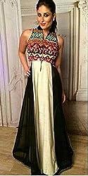 Shree Khodal Women's White Georgette Dress Material [SK_JCN1013_D]