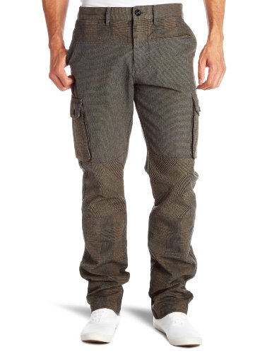 DKNY Glenn Plaid Cargo Men's Trousers New Army Combo W29 InxL In