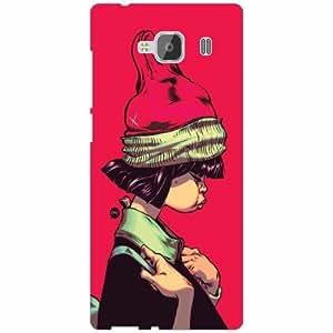 Xiaomi Redmi 2 Prime Back Cover - Silicon Hatted Girl Designer Cases