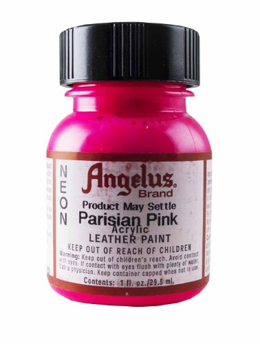 Springfield Leather Company's Parisian Pink Neon Acrylic Leather Paint (Angelus Leather Paint Neon Colors compare prices)