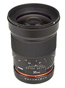 Bower SLY3514P Ultra Fast Wide-Angle 35mm f/1.4 Lens for Pentax