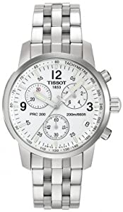 Mens Watch Tissot T17158632 T-Sport T-Sport PRC200 Chronograph White Dial