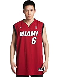 Lebron James Miami Heat Red #6 NBA adidas Revolution 30 Replica Basketball Jersey