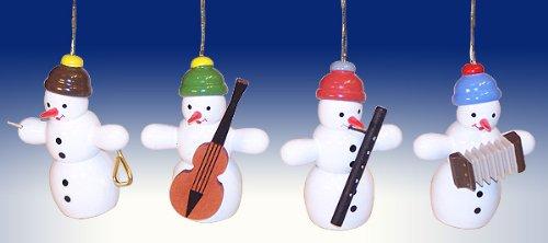 Ornaments Christmas tree ornaments tree ornaments Seiffen Snowman Quartet