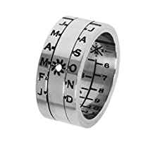 Sundial Ring Silver Finish