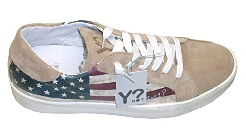 Y NOT - Scarpe uomo donna SNEAKERS basse - Stampa flag USA- 39