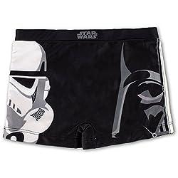 Star Wars - Costume Boxer Mare Piscina - Darth Vader Stormtrooper - Bambino - Novità Prodotto Originale 2200001038 [Nero - 4 anni]