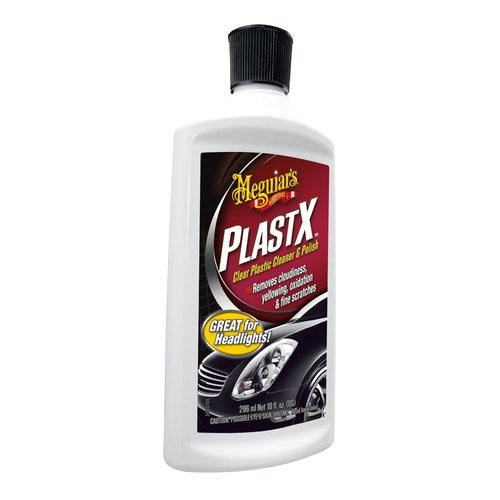 Meguiars PlastX Car Headlight & Clear Plastic Cleaner / Polish Kit