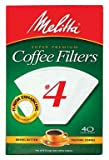 Melitta Cone Paper Coffee Filters, No. 4 White