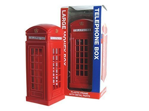 Tb London Telephone Box Money Box Made Of Plastic With Metal Parts - 1