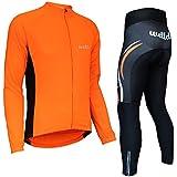 Wellcls サイクルジャージ 長袖 上下セット サイクルウェア サイクリングウェア 自転車 サイクリング