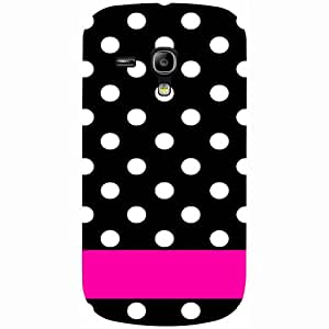 Casotec White Dots Pattern Design 3D Printed Hard Back Case Cover for Samsung Galaxy S3 Mini