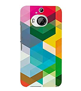 MULTI COLOURED MODERN ART PATTERN 3D Hard Polycarbonate Designer Back Case Cover for HTC One M9+ :: HTC One M9 Plus