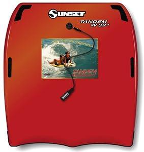 Liquid Shredder 42.5X39 Tandem Body Board (Red, 39-Inch)