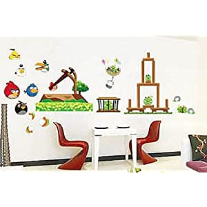 About angry bird angry birds removable wall decals stickers for Angry birds wall mural