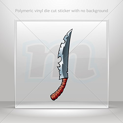 Decal Stickers Ancient Knife Decoration Motorbike Bicycle Vehicle Atv Car Lap (7 X 2.16 In)