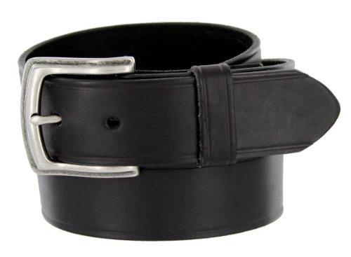 """Detroit Solid 100% Leather Uniform Work Belt - Black 1-1/2"""" (38mm) Wide (36)"""
