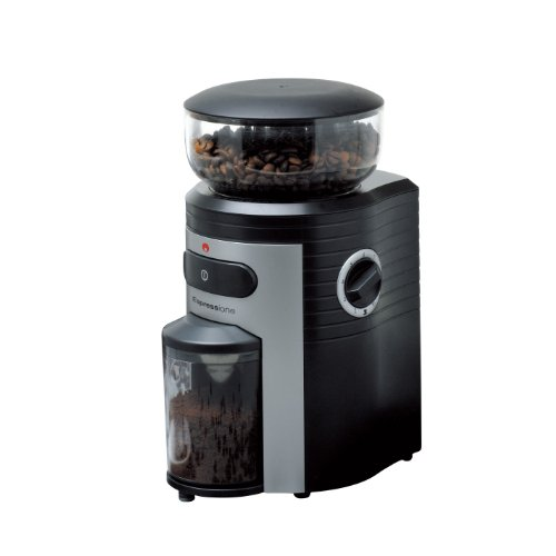 Espressione Professional Conical Burr Coffee Grinder, Black/Silver (Espressione Coffee Grinder compare prices)